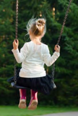 Photo of a girl in the playground