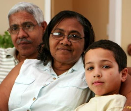 Photo of grandparents and grandson